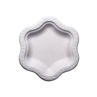 """7"""" Acanthus Collection Floral Small Premium White Plates (100)"""