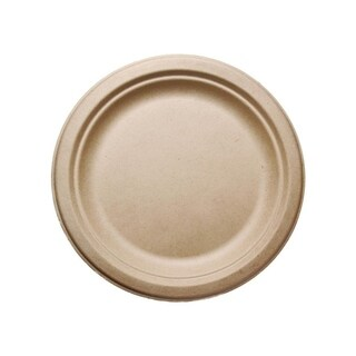 "9"" Round Bagasse Plates (100)"