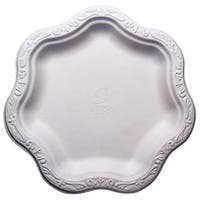 "9"" Acanthus Collection Floral Medium Premium White Plates (100)"