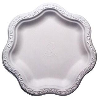 """9"""" Acanthus Collection Floral Medium Premium White Plates (100)"""