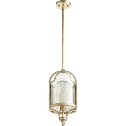 Quorum International Pendant With Vintage Champagne Glass.