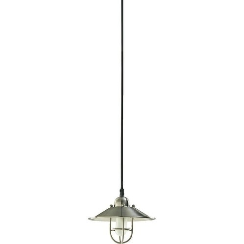Satin Nickel 1-light Caged Mini Pendant