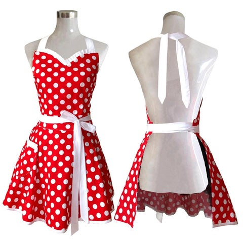 Lovely Sweetheart Red Retro Kitchen Aprons