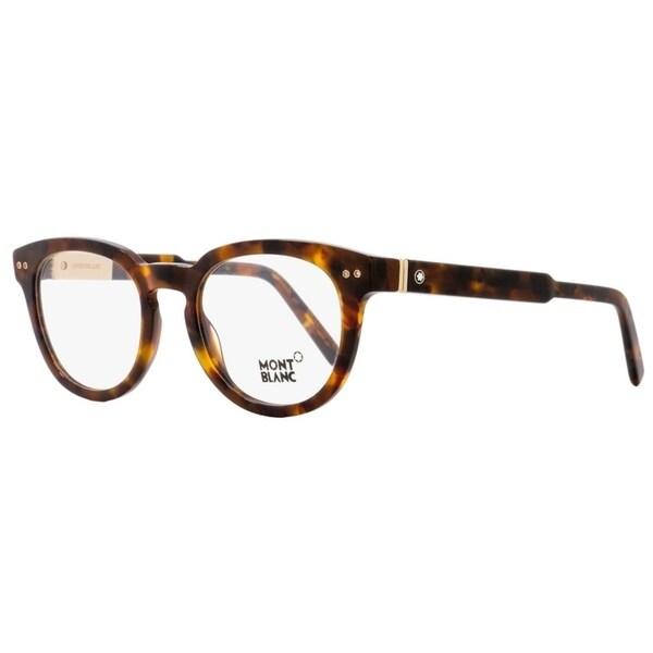 0aa7e5f88a9 Shop Montblanc MB619 055 Mens Dark Havana 52 mm Eyeglasses - Dark Havana - Free  Shipping Today - Overstock - 20520322