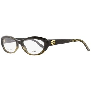 Gucci GG3566 W8H Womens Black/Gold Patterned 52 mm Eyeglasses - black/gold patterned