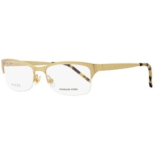 Gucci GG4211 AOZ Unisex Semi-Matte Gold 53 mm Eyeglasses - semi-matte gold