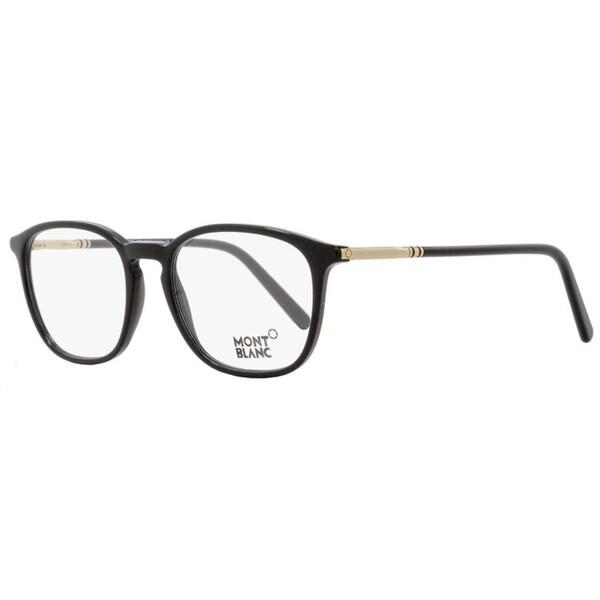 2be224db4e Montblanc MB539 001 Unisex Black Rose Gold 50 mm Eyeglasses - Black Rose  Gold
