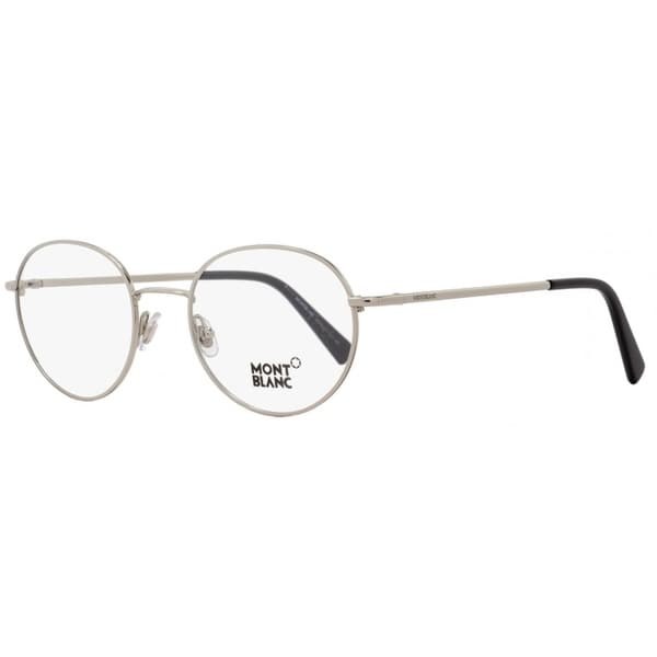 5ebf0f57bf6b Shop Montblanc MB559 016 Mens Palladium/Black 50 mm Eyeglasses ...