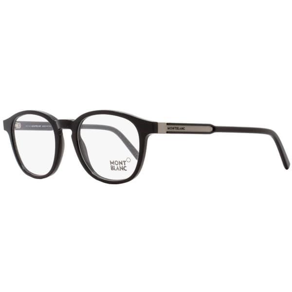 4c74f90295 Shop Montblanc MB632 001 Mens Black 50 mm Eyeglasses - Free Shipping ...