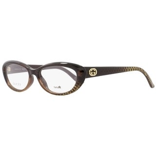 Gucci GG3566 W9B Womens Brown/Gold Patterned 52 mm Eyeglasses - brown/gold patterned
