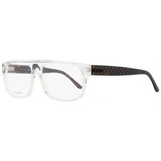 Gucci GG1009N LSA Mens Crystal/Matte Havana 57 mm Eyeglasses - crystal/matte havana