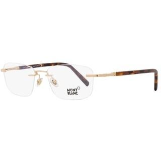 Montblanc MB558 028 Mens Rose Gold/Havana 55 mm Eyeglasses - rose gold/havana