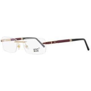 Montblanc MB490 028 Mens Rose Gold/Burgundy 55 mm Eyeglasses - rose gold/burgundy
