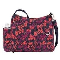 Travelon Anti-Theft Boho Square Painted Floral Crossbody Handbag