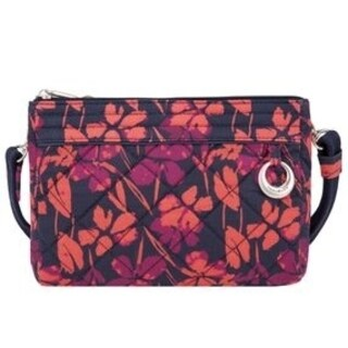 Travelon Painted Floral Boho Anti-Theft Convertible Crossbody Clutch