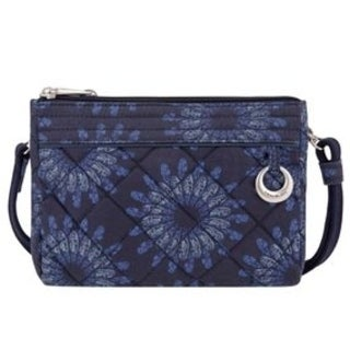 Travelon Geo Sunflower Boho Anti-Theft Convertible Crossbody Clutch