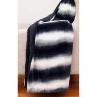 50x60 Beckie Stripe Faux Fur Decorative Throw
