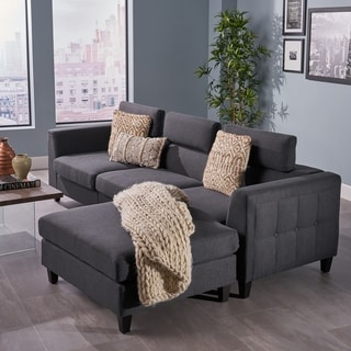 Amias Modern Chaise Sectional Sofa Set by Christopher Knight Home