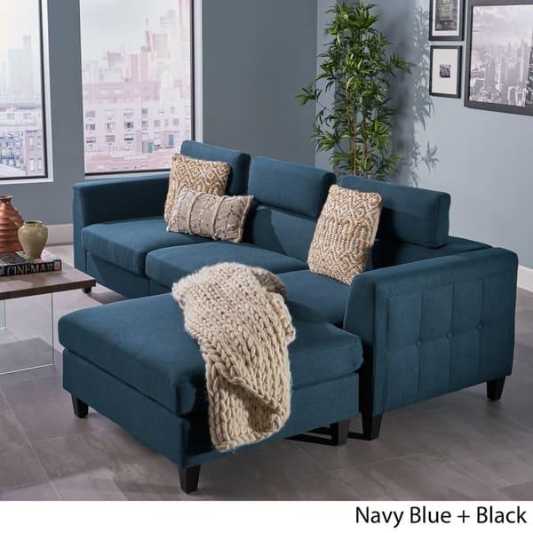 Marvelous Shop Amias Modern Chaise Sectional Sofa Set By Christopher Inzonedesignstudio Interior Chair Design Inzonedesignstudiocom