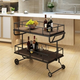 Lavinia Industrial Wood Bar Cart by Christopher Knight Home (2 options available)