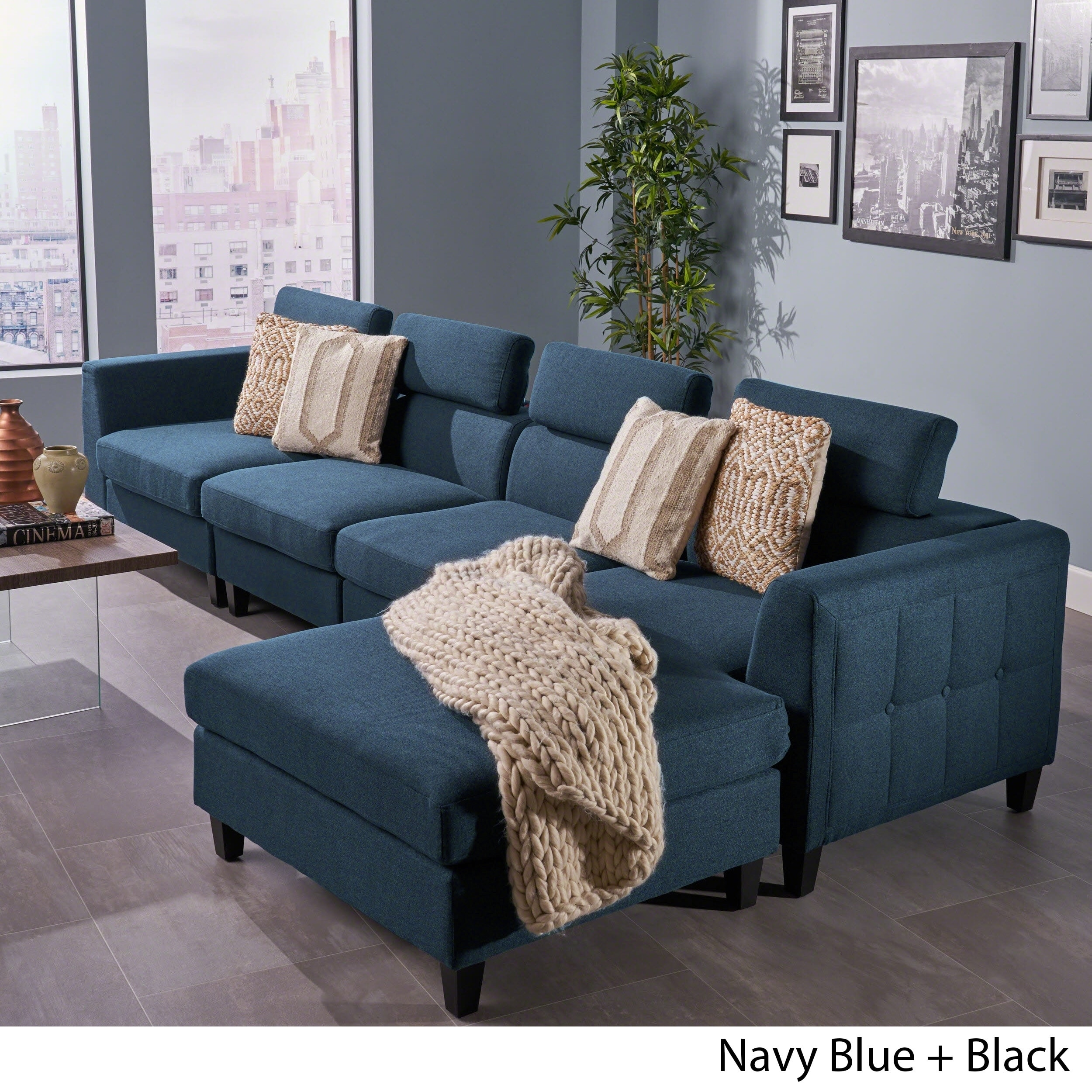 Remarkable Amias Modern 4 Piece Chaise Sectional Sofa Set By Christopher Knight Home Onthecornerstone Fun Painted Chair Ideas Images Onthecornerstoneorg