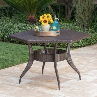 Gybson Outdoor 53-inch Hexagon Wicker Dining Table by Christopher Knight Home