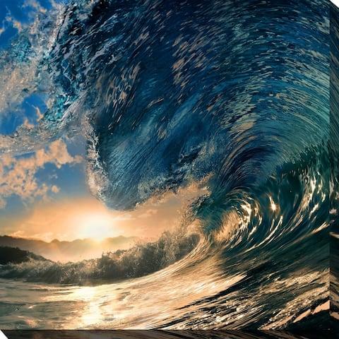 """OCEAN WAVES 1"" Framed Print on Canvas"