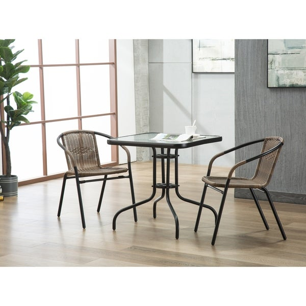Shop Porthos Home Tempered Glass And Square Bistro Style Small Patio