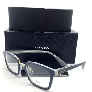 Prada New Authentic Gray Opal Grey Azure Women Eyeglasses VPR 09S UEE 1O1 51 21 140 (As Is Item)