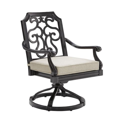 A.R.T. Furniture Arch Salvage Outdoor - Cannes Swivel Rocking Club Chair
