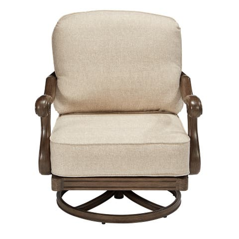 A.R.T. Furniture Arch Salvage Outdoor - Cannes Swivel Rocking Club Chair - Sold as Set of Two