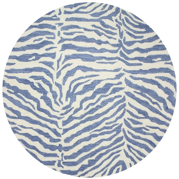 Georgia Denim Contemporary 8' Round Area Rug - 8' x 8'