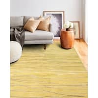 Sydney Gold Contemporary  Area Rug - 7'9 x 9'9