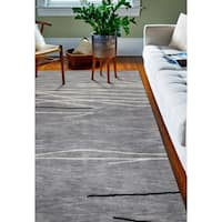 "Sydney Grey Contemporary 7'9"" X 9'9"" Area Rug - 7'9 x 9'9"