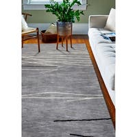 Sydney Grey Contemporary  Area Rug - 7'9 x 9'9