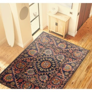"Brewster Dk.Blue Transitional  Area Rug - 8'7"" x 11'6"""