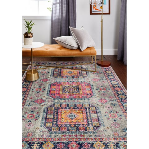 "Fausto Grey Transitional Area Rug - 7'6"" x 9'6"""