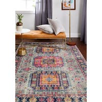 """Fausto Grey Transitional  Area Rug - 7'6"""" x 9'6"""""""