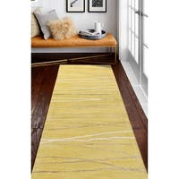 Sydney Gold Contemporary  Area Rug - 2'6 x 8'