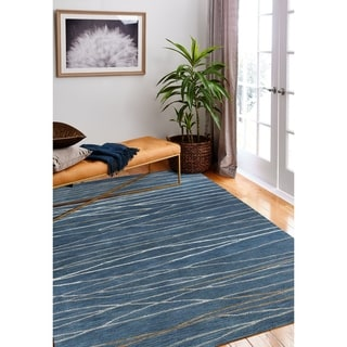 "Sydney Azure Contemporary  Area Rug - 5'6"" x 8'6"""