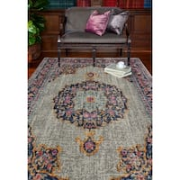 "Carlos Grey Transitional  Area Rug - 7'7"" x 9'6"""