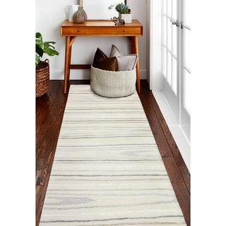 "Alison Ivory Contemporary  Area Rug - 2'6"" x 8' Runner"