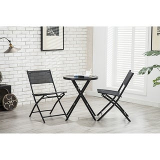 Porthos Home Patio Furniture Bistro Set with Table and Two Chairs