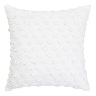 Trina Turk White Fringe Throw Pillow