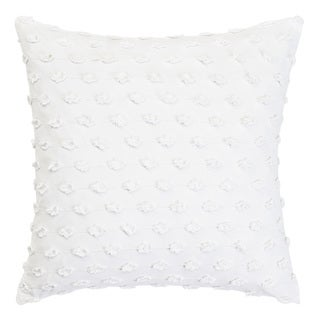 Trina Turk White Fringe Throw Pillow