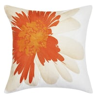 Trina Turk Palm Desert Daisy Embroidery Throw Pillow