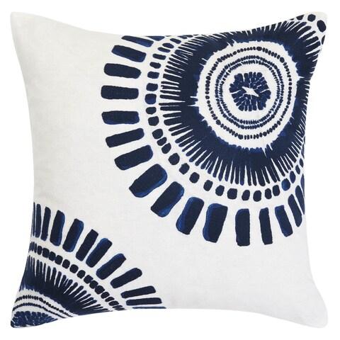 Trina Turk Samba De Roda Circle Embroidery Throw Pillow