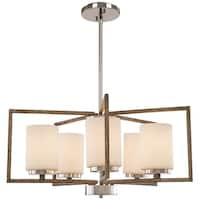 Minka Lavery 5-Light Polished Nickel and Corona Bronze Chandelier
