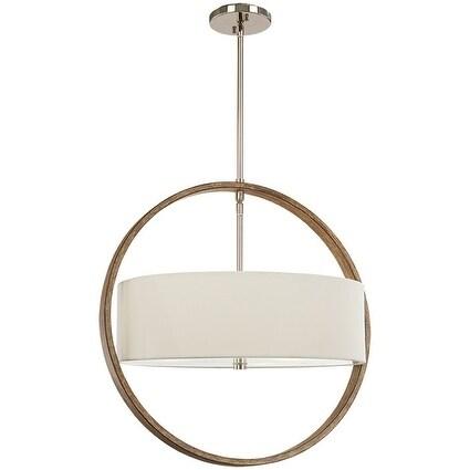 3-Light Polished Nickel/Corona Bronze Pendant