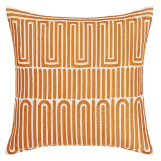 Trina Turk Racket Club Geo Cantaloupe Throw Pillow